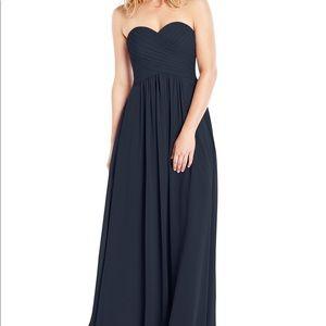 Azazie Corin Dress Dark Navy Size A8